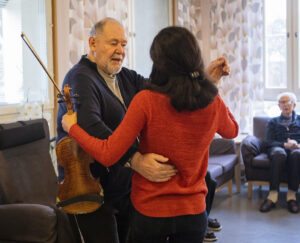 "– ""Dancing is my hobby. You feel younger and remember the feeling from the time you were always dancing"", says Arne Bolling, who partners Diana Parhizgar from the project ""Meet in Music – Whole Life"". Photo: Christin Sylvander"